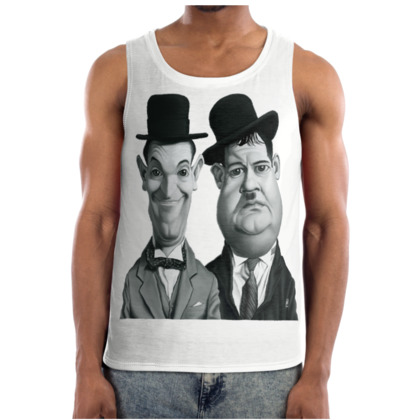 Laurel and Hardy Celebrity Caricature Cut and Sew Vest