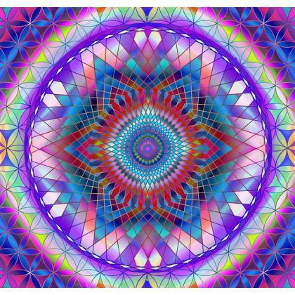 Tablecloth Purple Snowflake