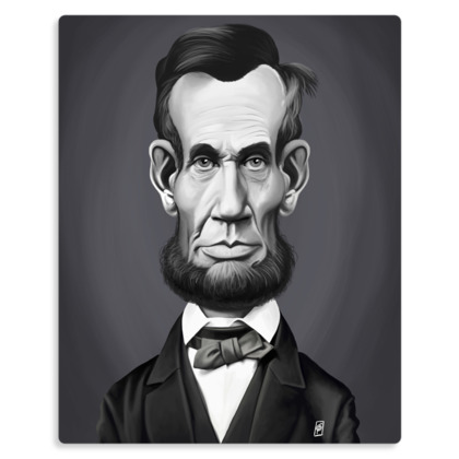 Abraham Lincoln Celebrity Caricature Metal Print