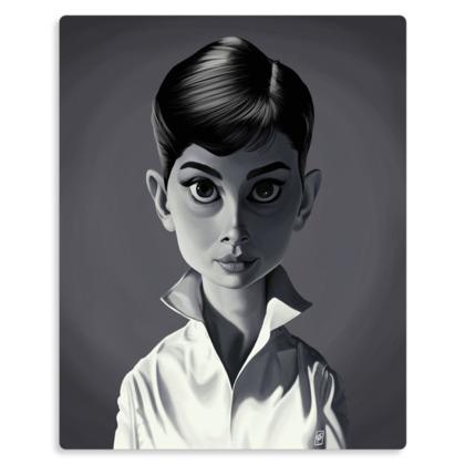 Audrey Hepburn Celebrity Caricature Metal Print