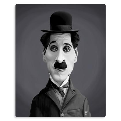 Charlie Chaplin Celebrity Caricature Metal Print