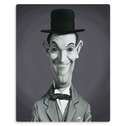 Stan Laurel Celebrity Caricature Metal Print