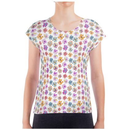 Rainbow Daisies Collection Ladies T Shirt