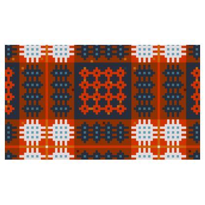 Red Welsh Tapestry Christmas Stocking - Hosan 'Dolig Brethyn Cymreig mewn coch