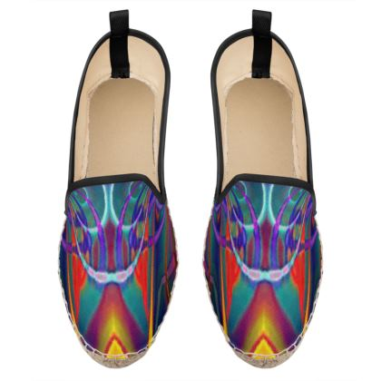 Loafer Espadrilles Abstract Painting