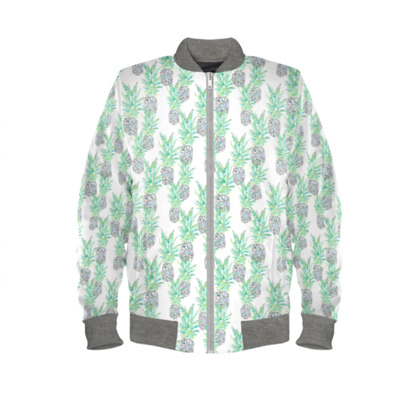 Pineapple Ladies Bomber Jacket