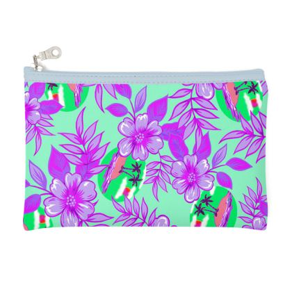 Magenta Tropical Pencil Case