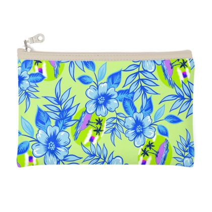 Blue Tropical Pencil Case