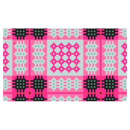 Pink Welsh Tapestry Christmas Stocking - Hosan 'Dolig Brethyn Cymreig mewn pinc