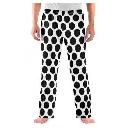 Men Pyjama Bottoms Polka dots