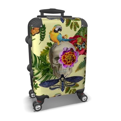 Tropical Skull Suitcase
