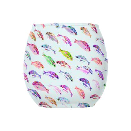 Tropical Fish Collection Glass Tealight Holder