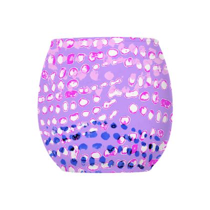 Textural Collection multicolored in mauve and blue Glass Tealight Holder