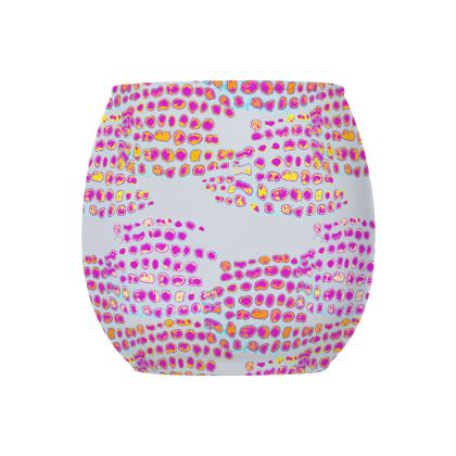 Textural Collection in grey and magenta Glass Tealight Holder