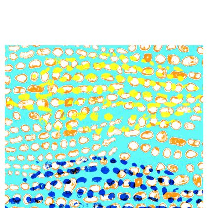 Textural Collection multicolored Cup And Saucer