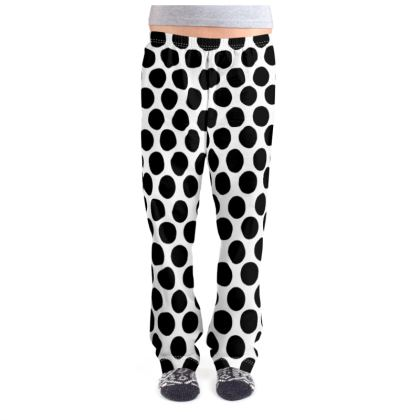 Women's Pyjama Bottoms Black Polka Dot