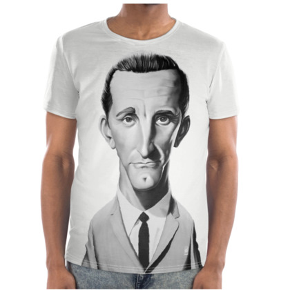 Kirk Douglas Celebrity Caricature Cut and Sew T Shirt