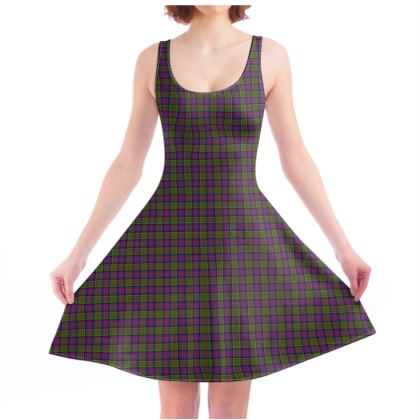 MacDonald of Clanranald Tartan Skater Dress
