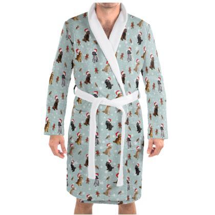 Cockapoo design dressing gown