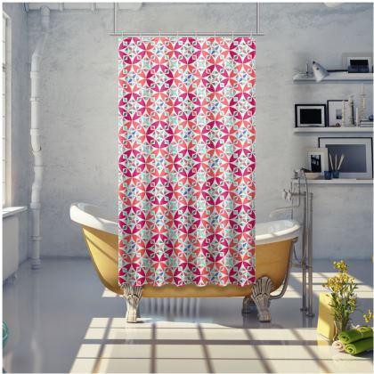 Shower Curtain Arabesque Pattern