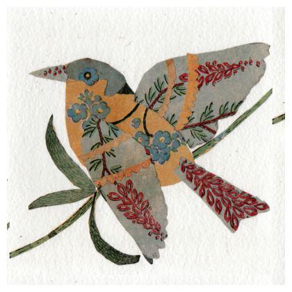 Soft velvet Cushion in 'L'oiseau' design