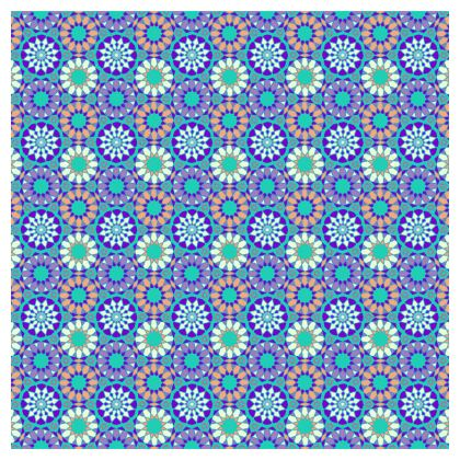 Tablecloth Blue Flowers