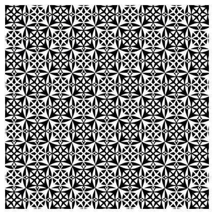 Tablecloth Black White Tile