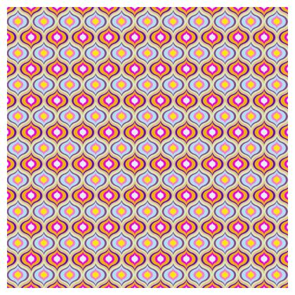 Tablecloth Leaves Pattern