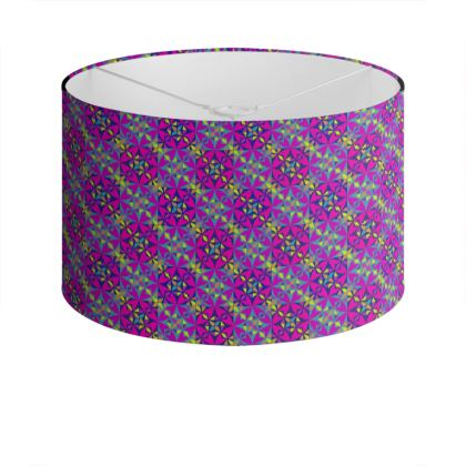 Drum Lamp Shade Purple Pattern