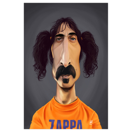Frank Zappa Celebrity Caricature Art Print