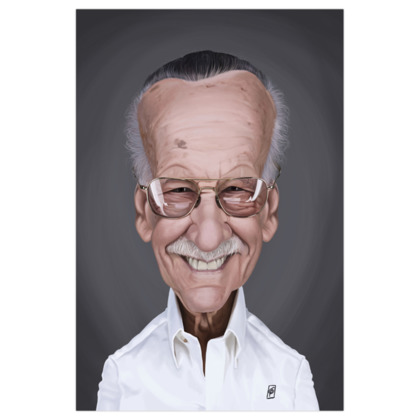 Stan Lee Celebrity Caricature Art Print