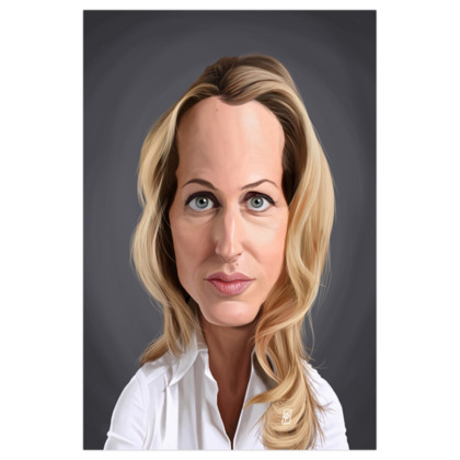 Gillian Anderson Celebrity Caricature Art Print