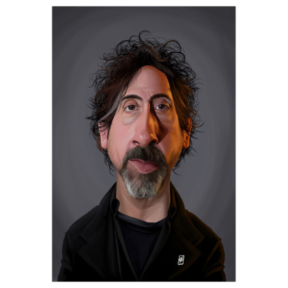 Tim Burton Celebrity Caricature Art Print
