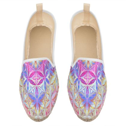 Loafer Espadrilles Kaleidoscope Flower Of Life 2