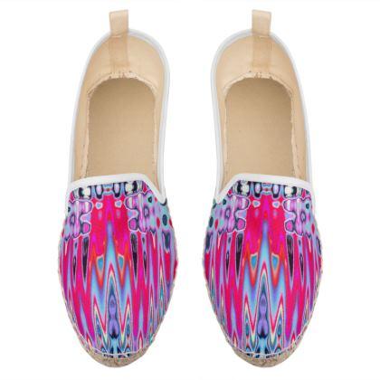 Loafer Espadrilles Pink Splashes