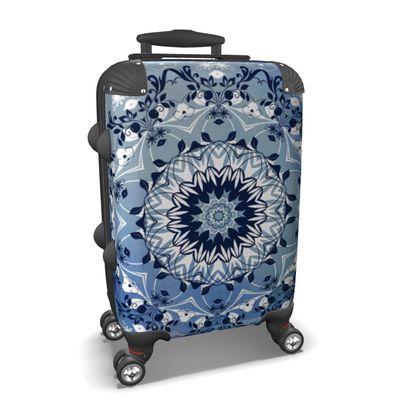 Blue Mandala Suitcase