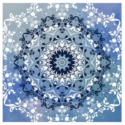 Blue Mandala Suitcase