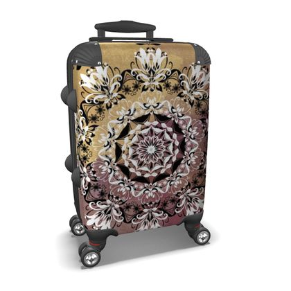 Golden Mandala Suitcase