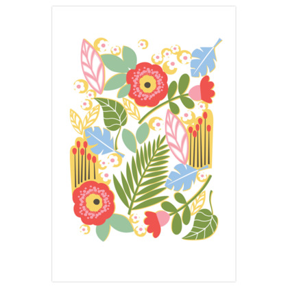 Paradise House Tropical Floral Art Prints