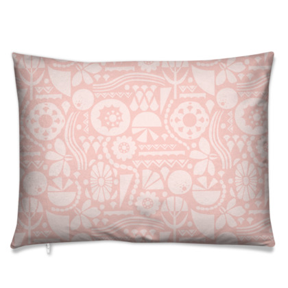 Eclectic Garden Pink Rectangle Cushion