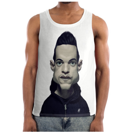 Rami Malek Celebrity Caricature Cut and Sew Vest