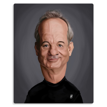 Bill Murray Celebrity Caricature Metal Print