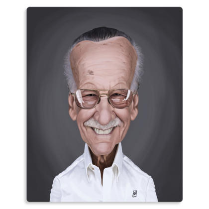 Stan Lee Celebrity Caricature Metal Print