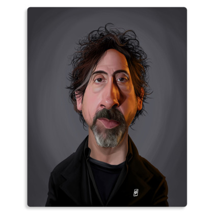 Tim Burton Celebrity Caricature Metal Print