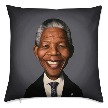 Nelson Mandela Celebrity Caricature Cushion