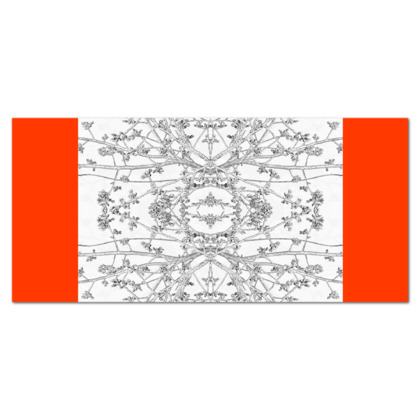 Orange Branch Print Tablecloth