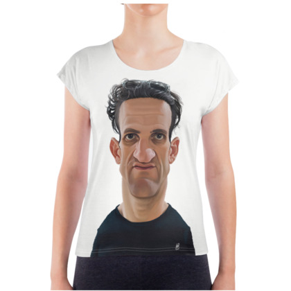 Casey Neistat Celebrity Caricature Ladies T Shirt