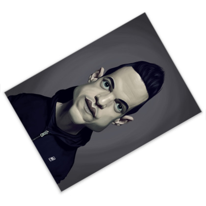 Rami Malek Celebrity Caricature Postcard