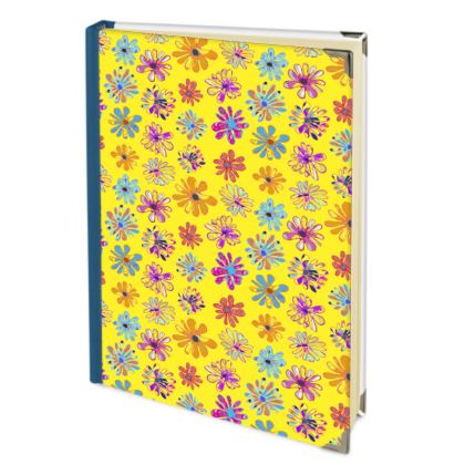 Rainbow Daisies Collection on yellow Journals