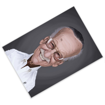 Stan Lee Celebrity Caricature Postcard